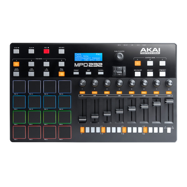 Akai MPD232 Pad Controller with Faders