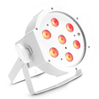 Cameo Tri Colour 7 x 3W LED RGB Flat Par Can, White