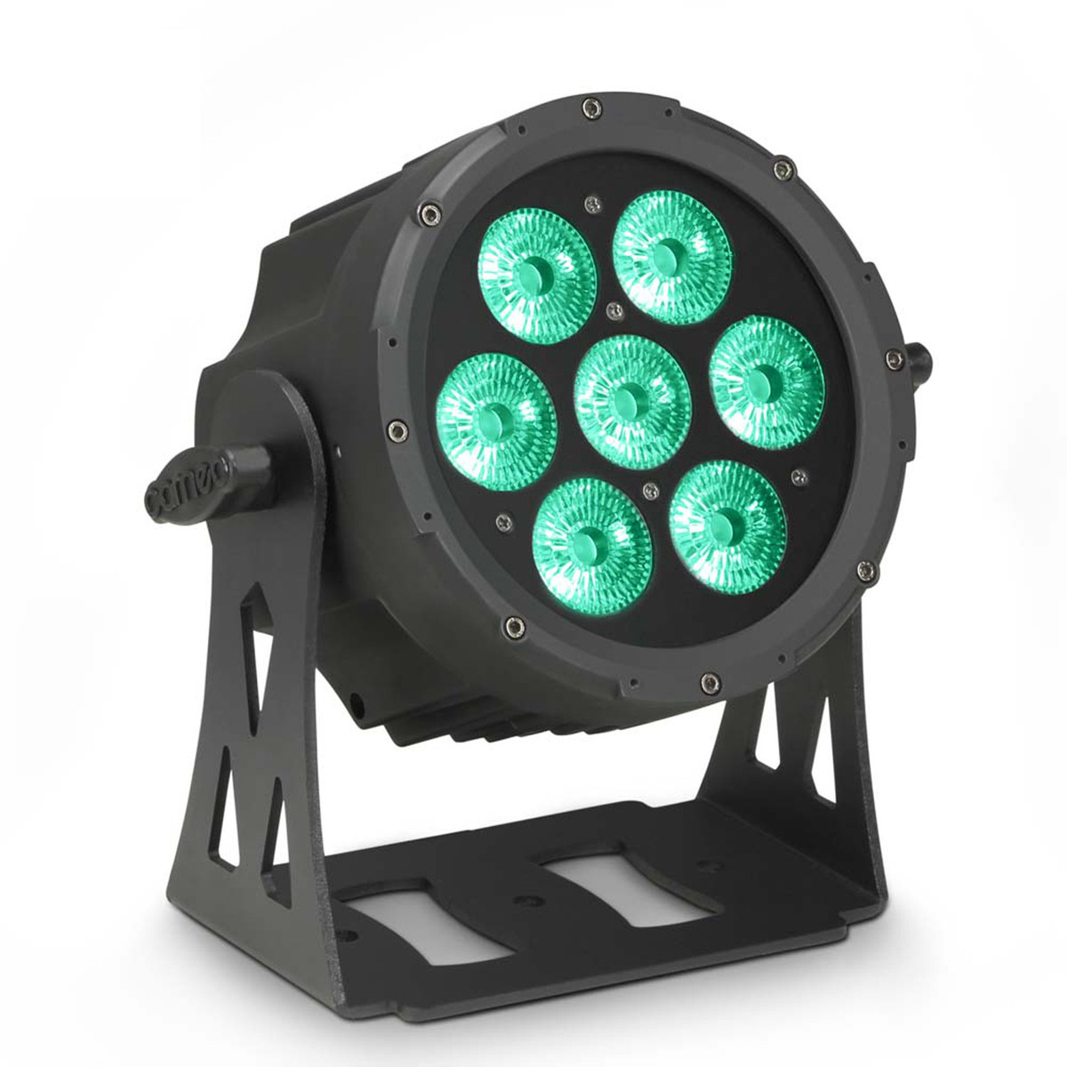 Cameo Flat Pro 7 Ip65 X 10w Rgbwa Led Outdoor Par Light Black At Flood Floodlight Lamp High Power Case With 1m Cable Wire Loading Zoom