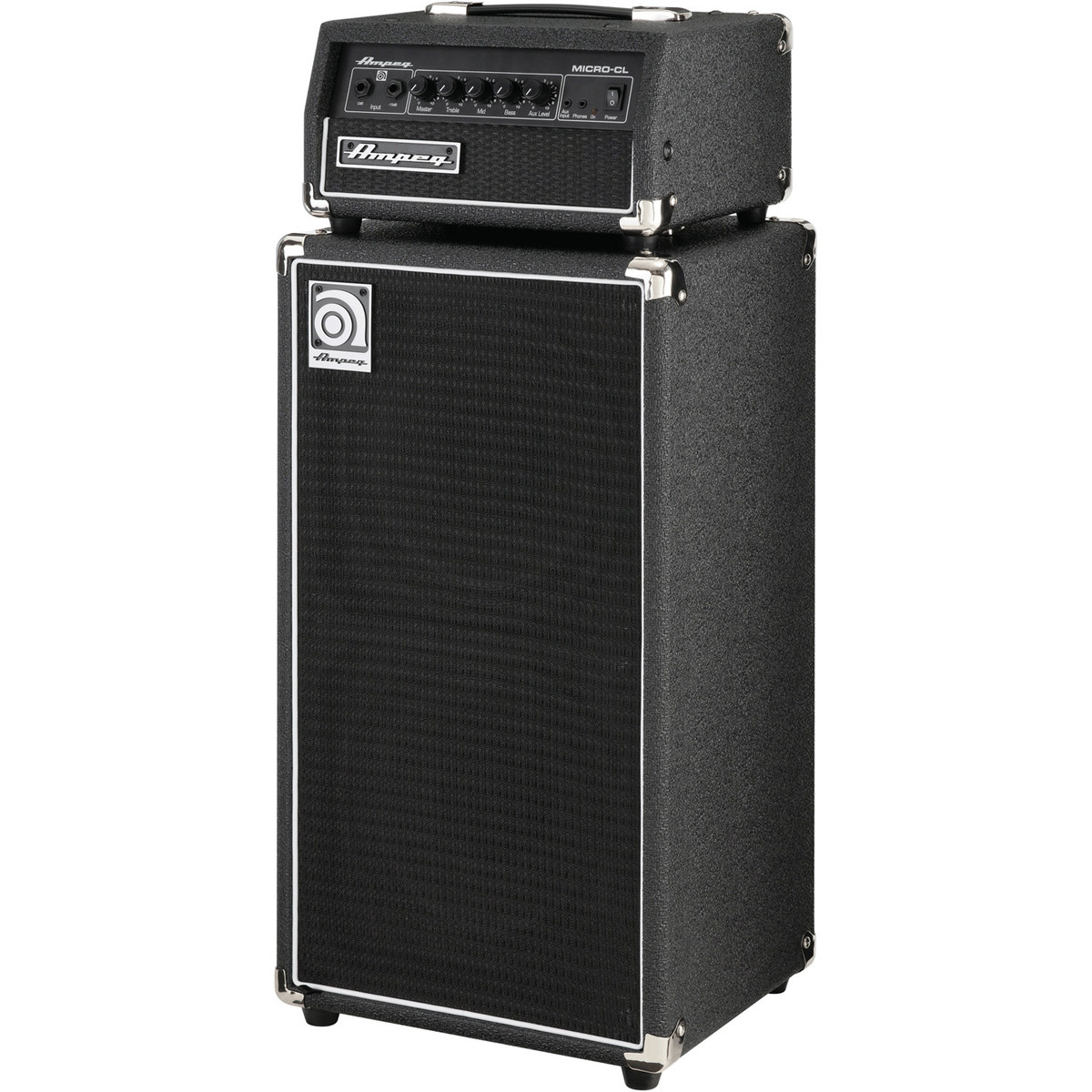 ampeg micro cl stack bass amp head and cab nearly new at gear4music. Black Bedroom Furniture Sets. Home Design Ideas