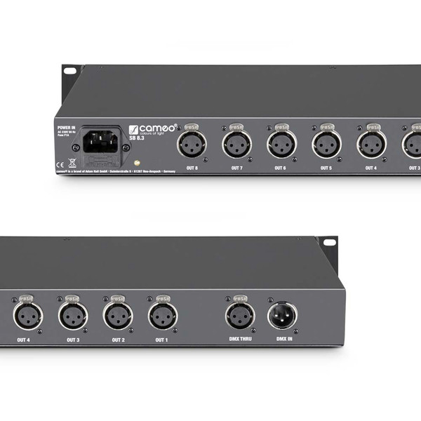 Cameo SB8.3 8 Channel 3-Pin DMX Splitter/Booster