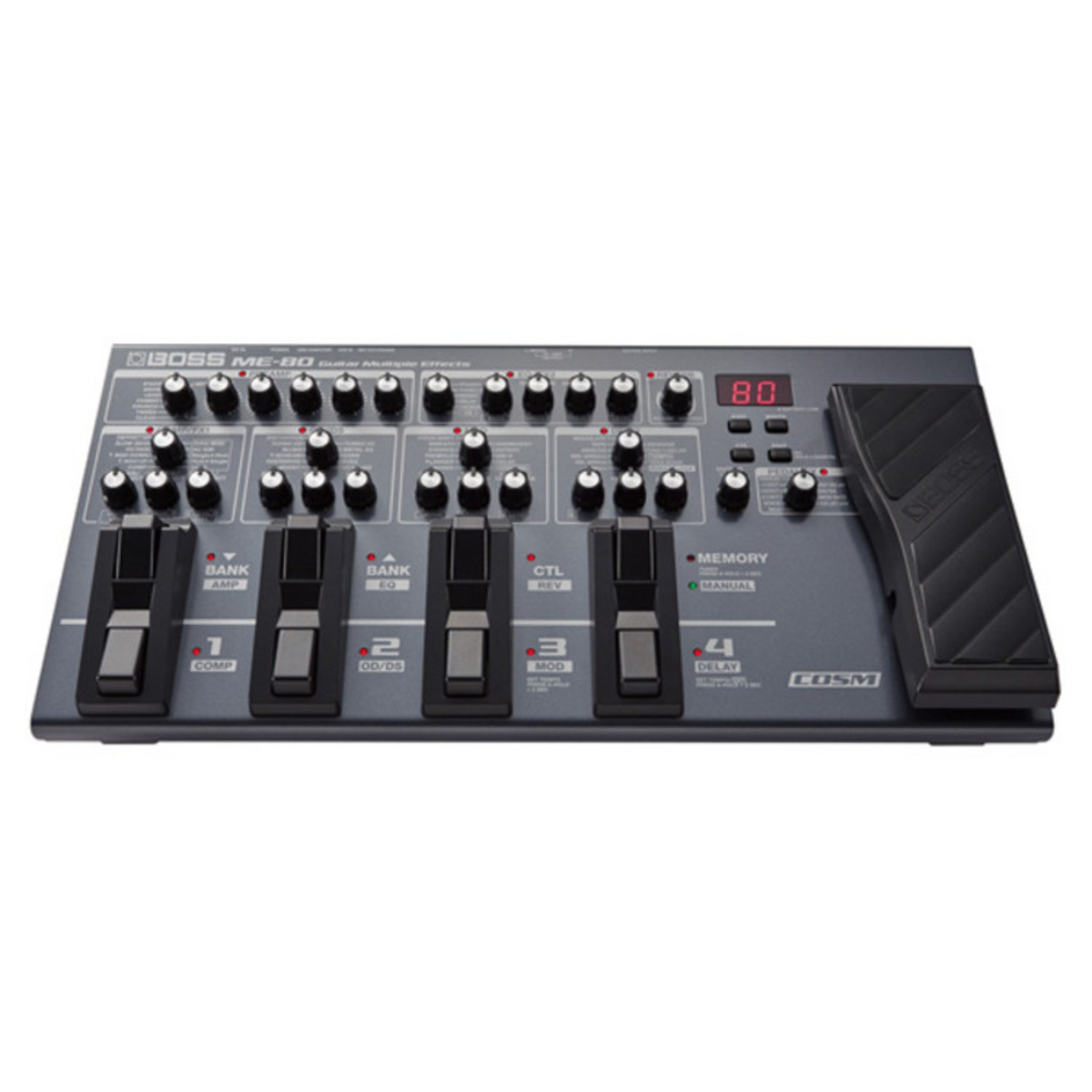 boss me 80 guitar multi effects pedal nearly new at. Black Bedroom Furniture Sets. Home Design Ideas