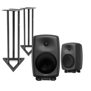 Genelec 8050B Bi-Amped Studio Monitors with Stands (Pair)