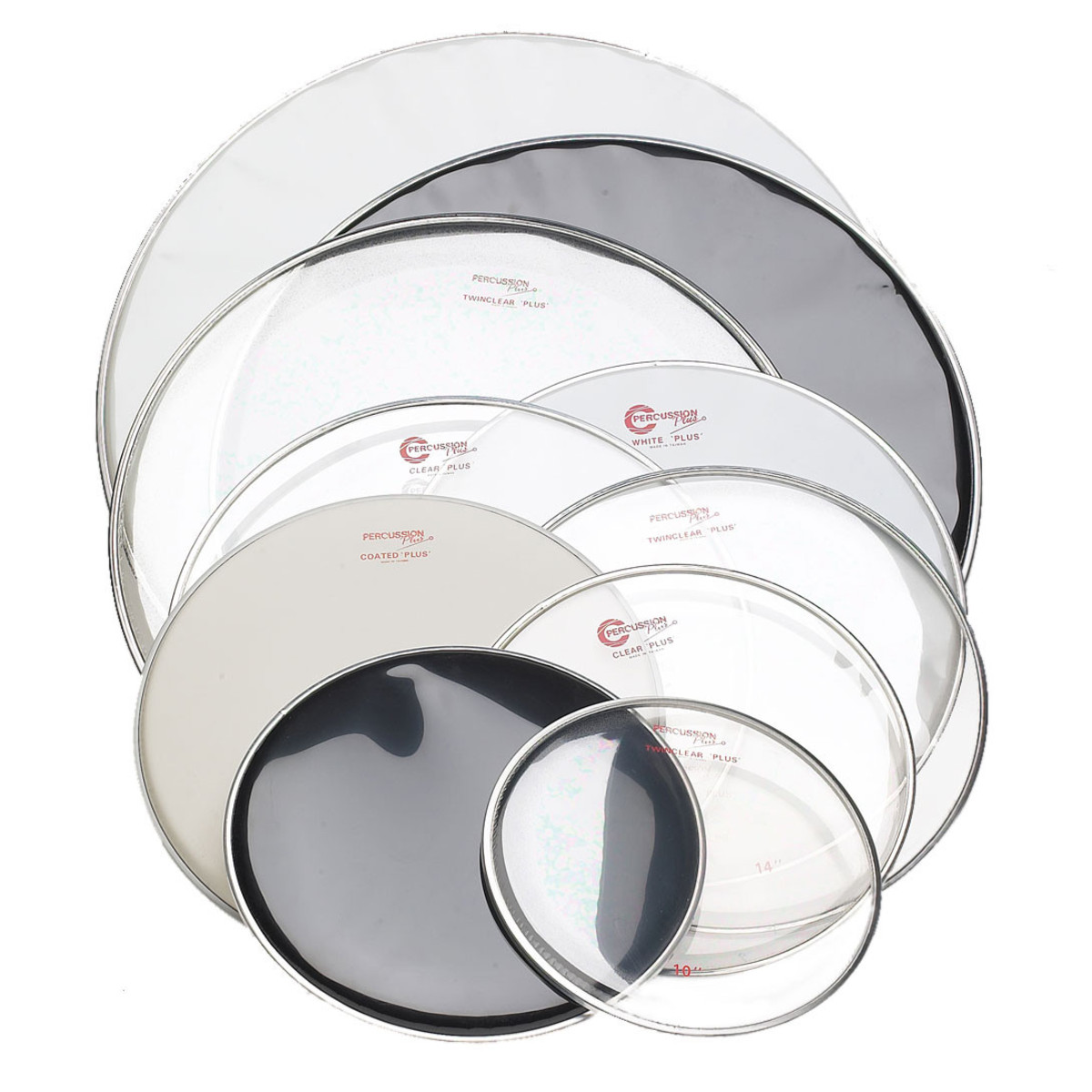 percussion plus drum head tom twinclear plus 14 35 cm at gear4music. Black Bedroom Furniture Sets. Home Design Ideas