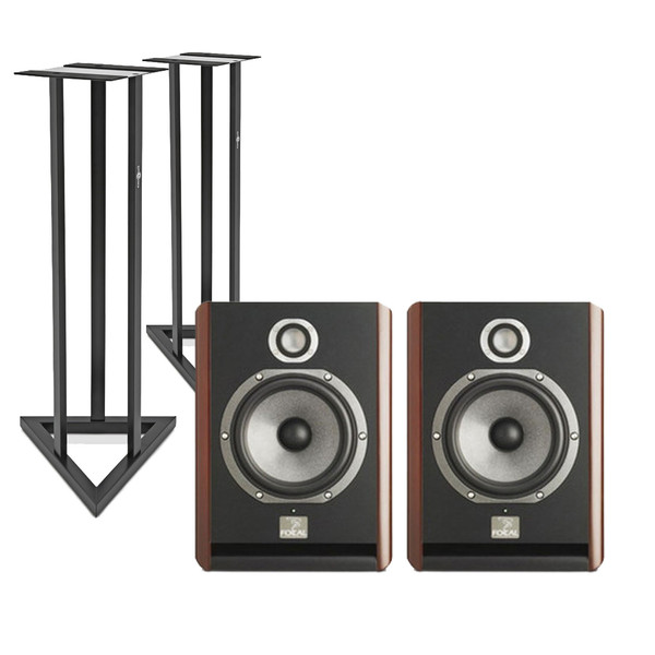 Focal Solo 6 BE Active Monitor Speakers, Red (Pair) + FREE Stands