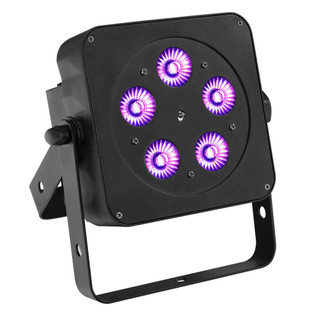 LEDJ Slimline 5Q5 RGBW LED Par Can, Black Housing