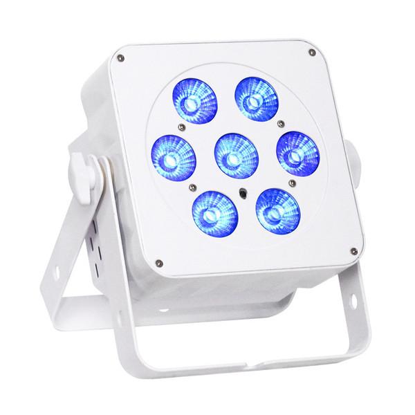 LEDJ Slimline 7Q5 RGBW LED Par Can, White Housing