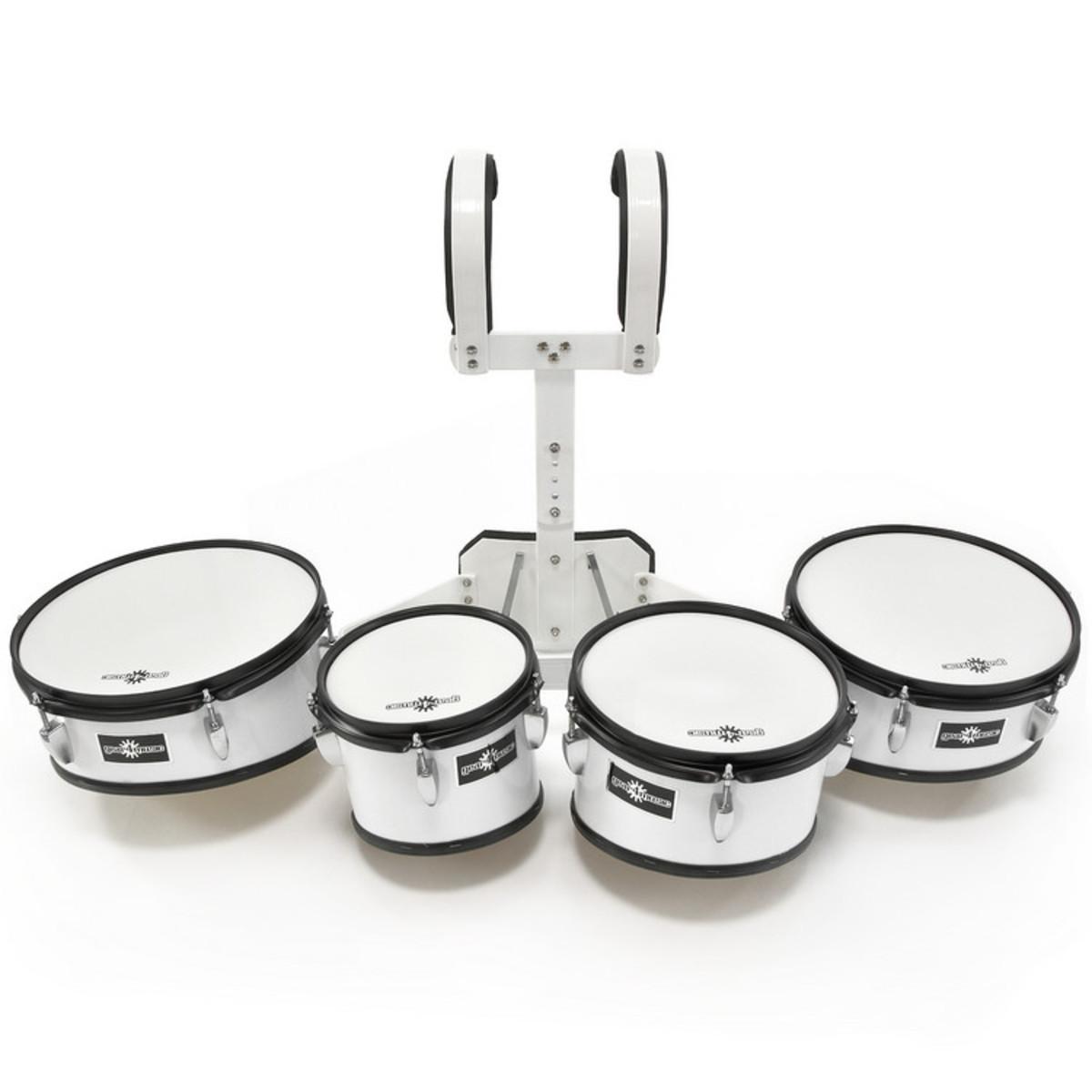 ensemble de toms de fanfare avec transporteur 8 10 12 13 par gear4music comme neuf. Black Bedroom Furniture Sets. Home Design Ideas