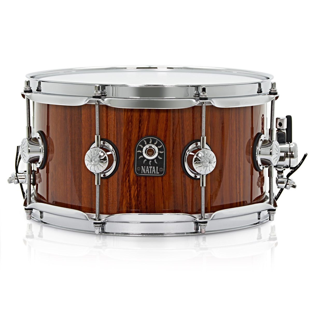 disc natal 12 39 39 x 5 5 39 39 stave bubinga snare drum amber at gear4music. Black Bedroom Furniture Sets. Home Design Ideas