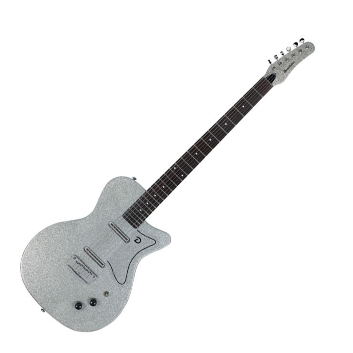 DISC Danelectro 56 Baritone Electric Guitar, Silver Metal ...