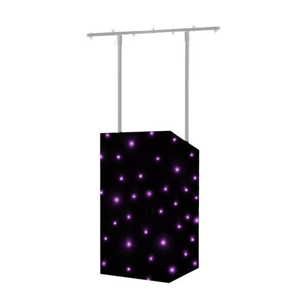 Equinox MICRON DJ Booth Tri LED Starcloth System, Black Cloth