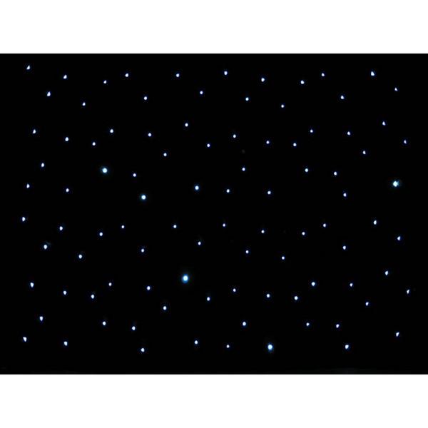 LEDJ DMX 8 x 4.5m LED Starcloth System, Black Cloth, CW