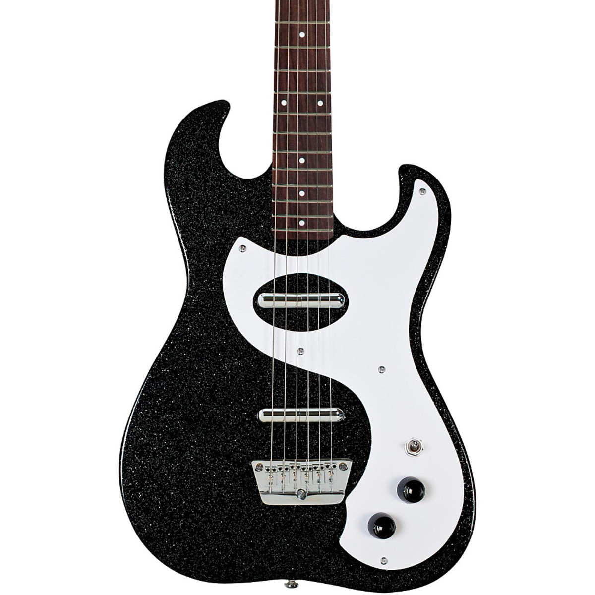 danelectro 63 double cutaway electric guitar black metal flake at gear4music. Black Bedroom Furniture Sets. Home Design Ideas