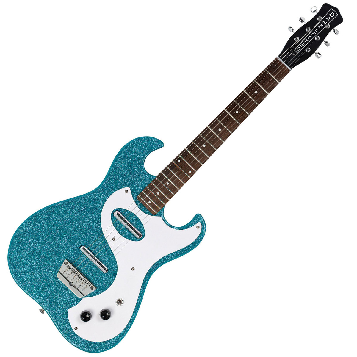 disc danelectro 63 double cutaway electric guitar turquoise metal gear4music. Black Bedroom Furniture Sets. Home Design Ideas