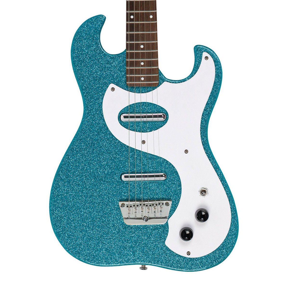 danelectro 63 double cutaway electric guitar turquoise metal flake at. Black Bedroom Furniture Sets. Home Design Ideas