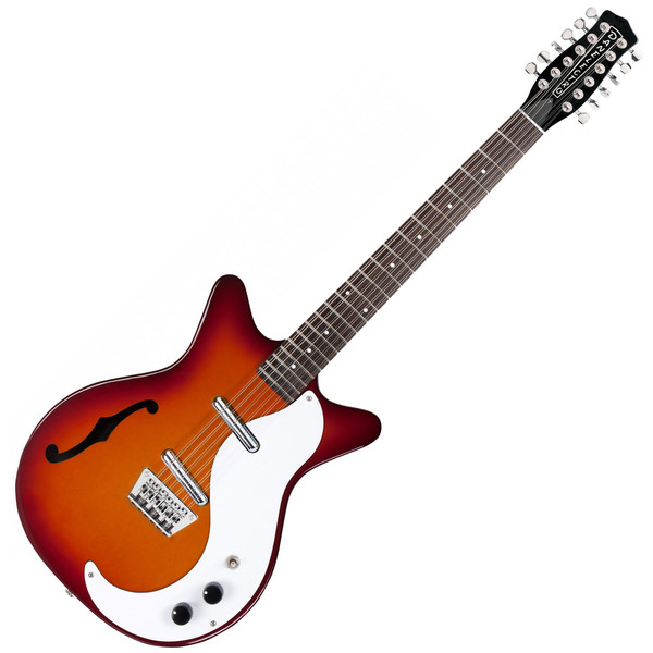 Danelectro DC59 12 String Electric Guitar, Cherry Sunburst