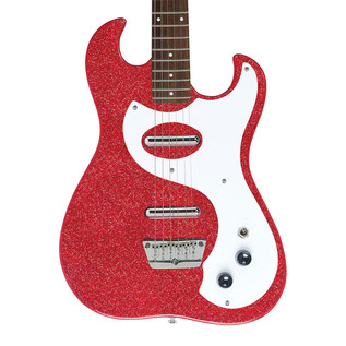 Danelectro 63 Double Cutaway Electric Guitar, Red Metal Flake