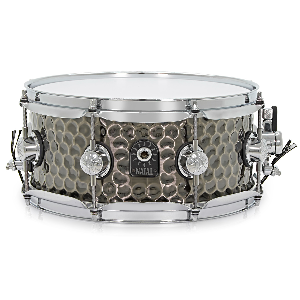 disc natal 12 39 39 x 5 5 39 39 hand hammered snare drum nickel at gear4music. Black Bedroom Furniture Sets. Home Design Ideas