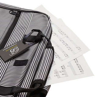 Beaumont Pin Stripe Sheet Music Bag