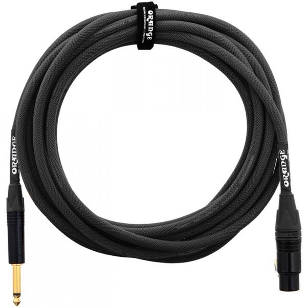 Orange 10 ft Mic Jack/XLR Cable, Black