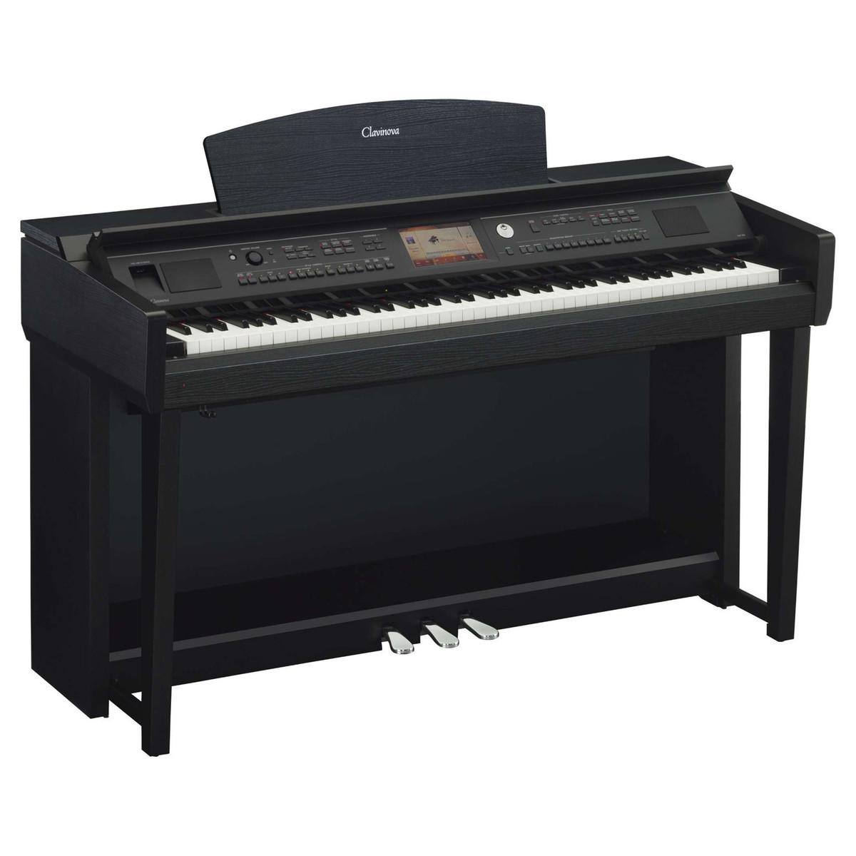Yamaha cvp 705 clavinova digital piano black walnut at for Yamaha digital piano clavinova