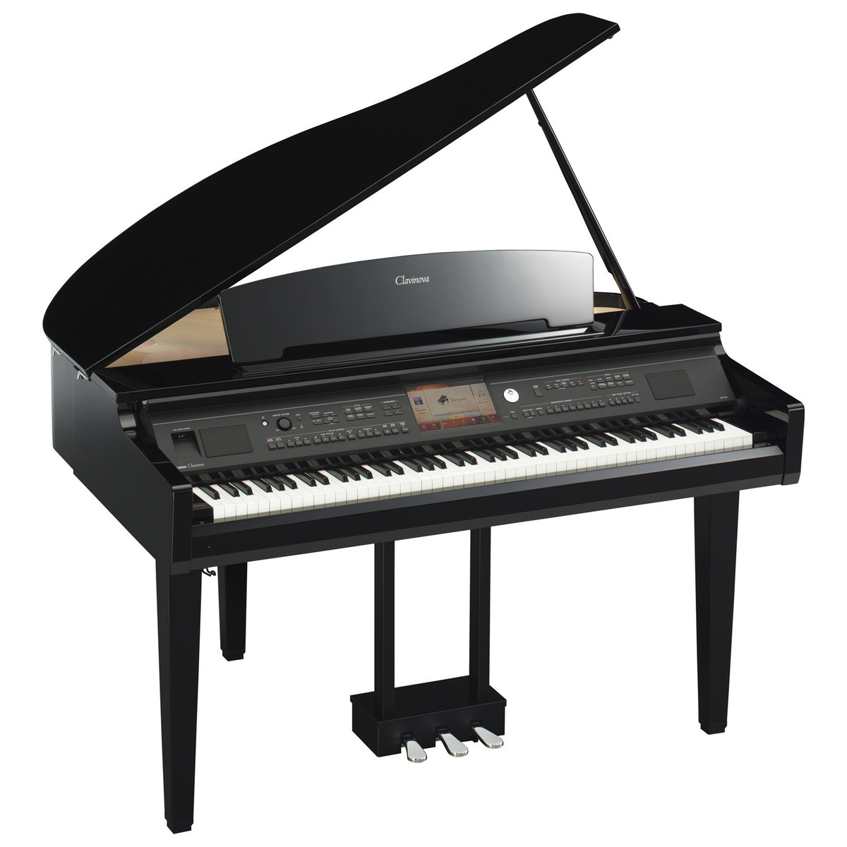 yamaha cvp 709 clavinova digital grand piano polished