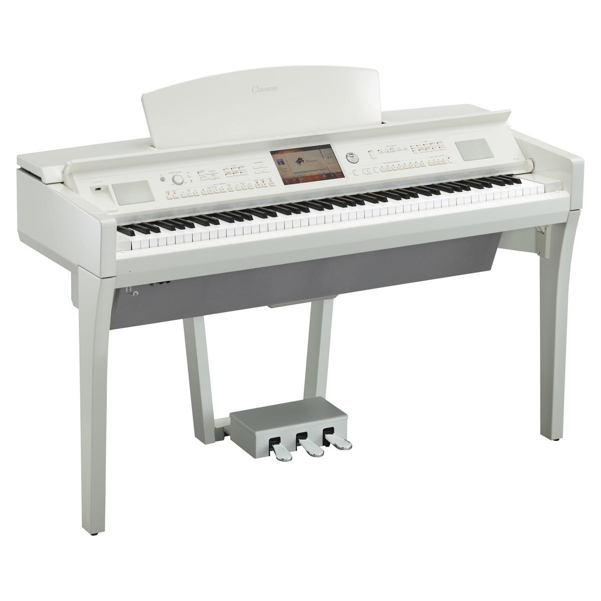 yamaha cvp 709 clavinova digital piano polished white at gear4music. Black Bedroom Furniture Sets. Home Design Ideas