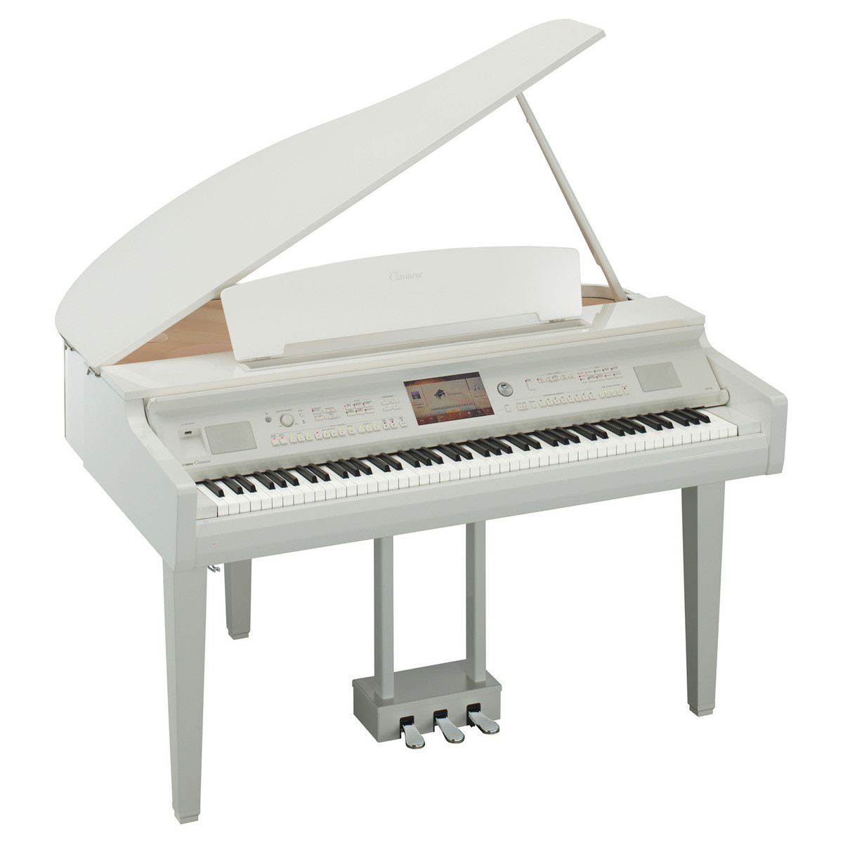 yamaha cvp 709 clavinova digital grand piano polished white at gear4music. Black Bedroom Furniture Sets. Home Design Ideas