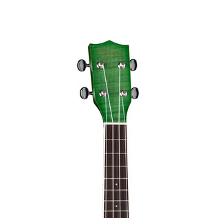 Dean Flame Maple Concert Ukulele, Trans Green