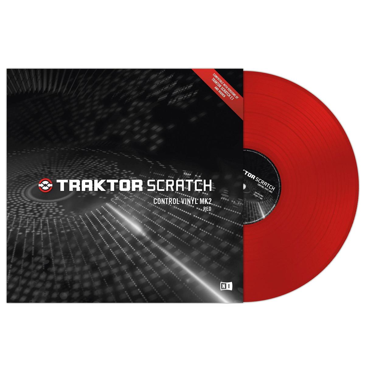 native instruments traktor scratch control vinyl mk2 red at gear4music. Black Bedroom Furniture Sets. Home Design Ideas