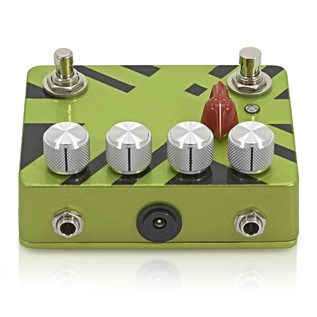 Caroline Cannonball Hand Painted Distortion Pedal, Black/Green