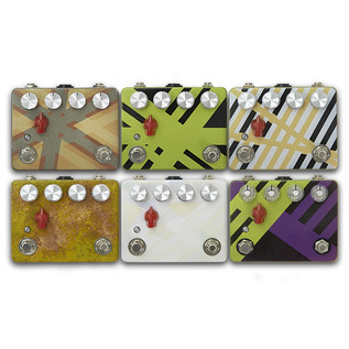 Caroline Guitar Co. Cannonball Hand Painted Distortion Pedal, G4M Collection