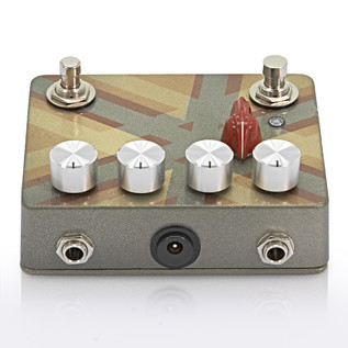 Caroline Cannonball Hand Painted Distortion Pedal, Gold/Silver