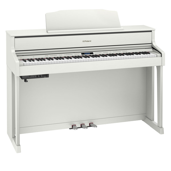 Roland HP605 Digital Piano, White