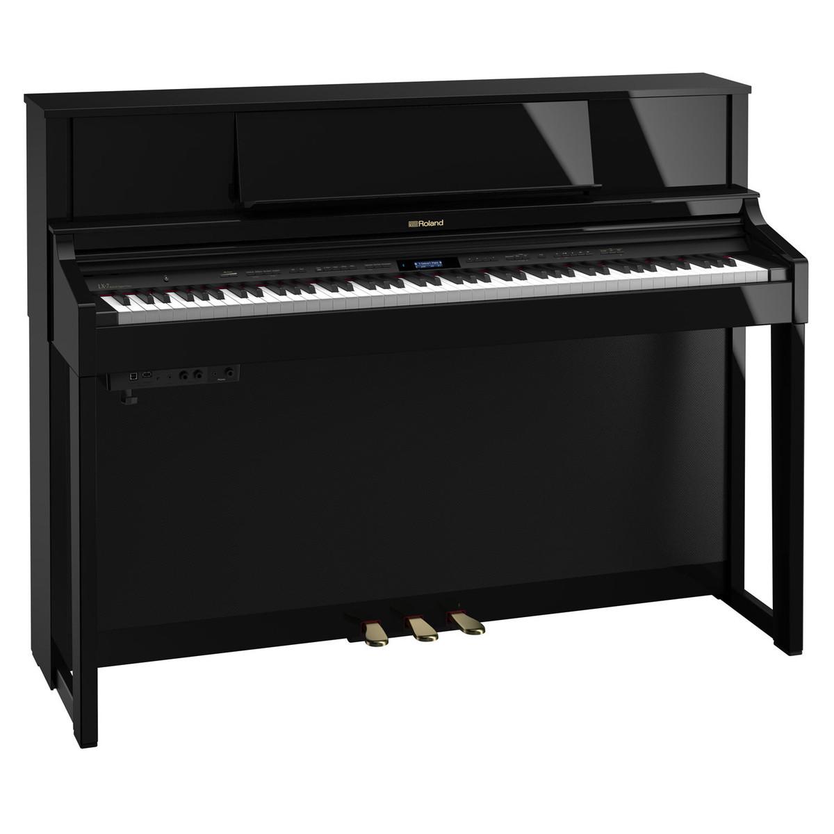 roland lx7 digital piano polished ebony at gear4music. Black Bedroom Furniture Sets. Home Design Ideas