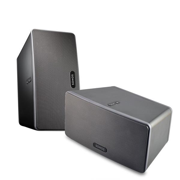 Populære Sonos Two Room Starter Set - 2 x PLAY:3 Black at Gear4music ZO-88