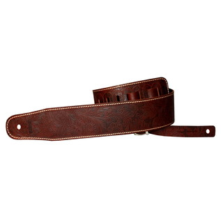 Richter 1086 Luxury Guitar Strap; Floral Brown