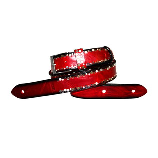 Richter 1349 Luxury Guitar Strap; Rich Red Burst