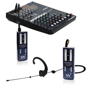 Wi Digital AudioStream Pro EL, Earset and Lavalier with Monitoring