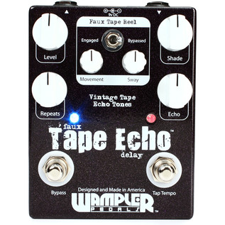 Wampler Faux Tape Echo Delay Pedal with Tap Tempo