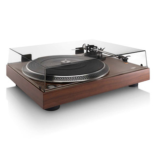 Lenco L-90 Walnut Veneer Turntable with USB