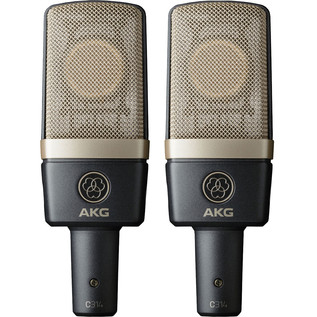 AKG C314 Dual-Diaphragm Condenser Stereo Microphones, Matched Pair