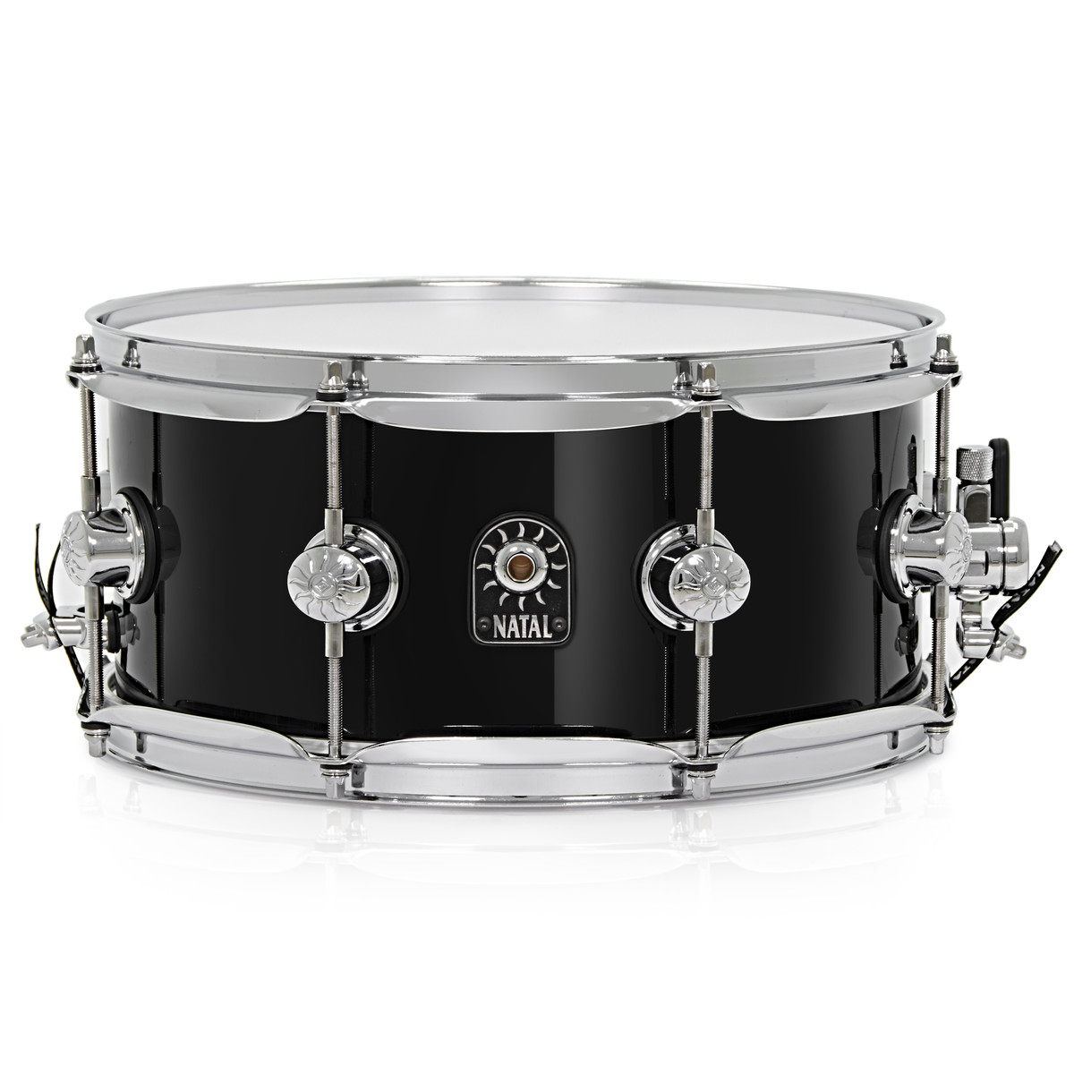 natal 12 39 39 x 5 5 39 39 stave maple snare drum black nearly new at gear4music. Black Bedroom Furniture Sets. Home Design Ideas
