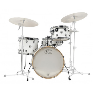 DW Frequent Flyer Gloss Lacquer 20'' Maple Shell Pack, White