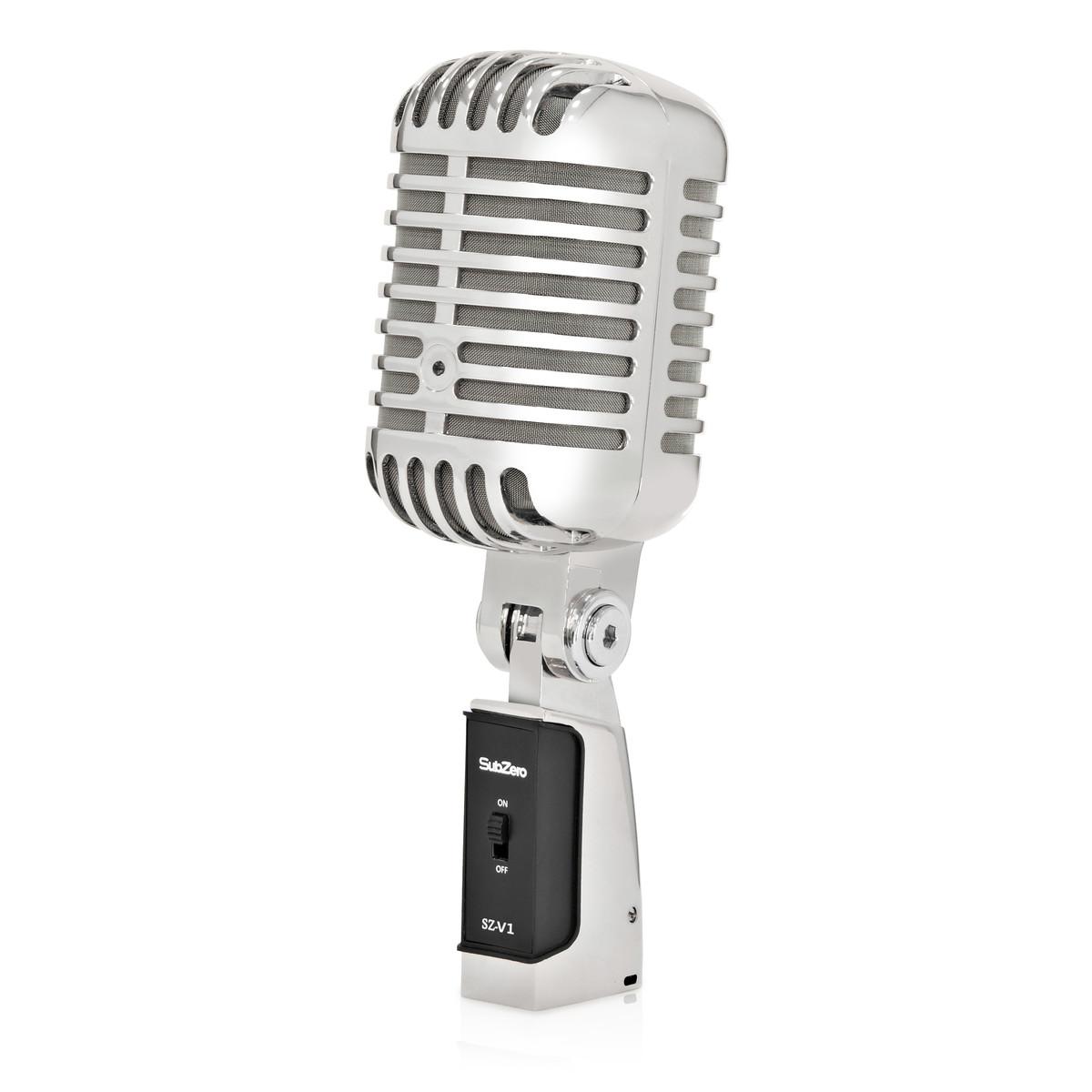 subzero sz-v1 vintage style microphone at gear4music