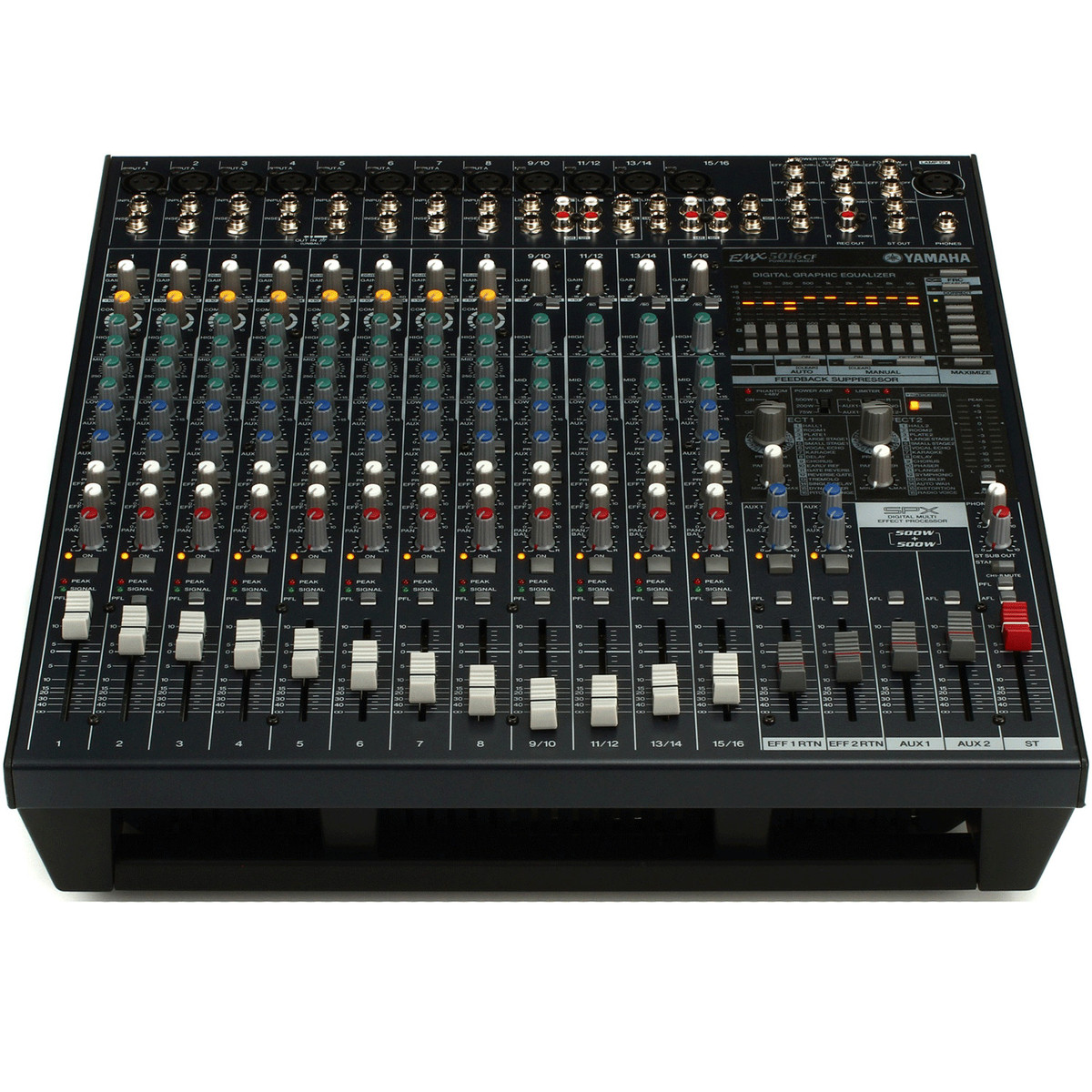 Yamaha emx5016cf 500w 500w stereo powered mixer at for Yamaha power amp mixer