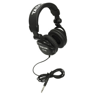 Tascam TH-02 Studio Reference Headphones, Black