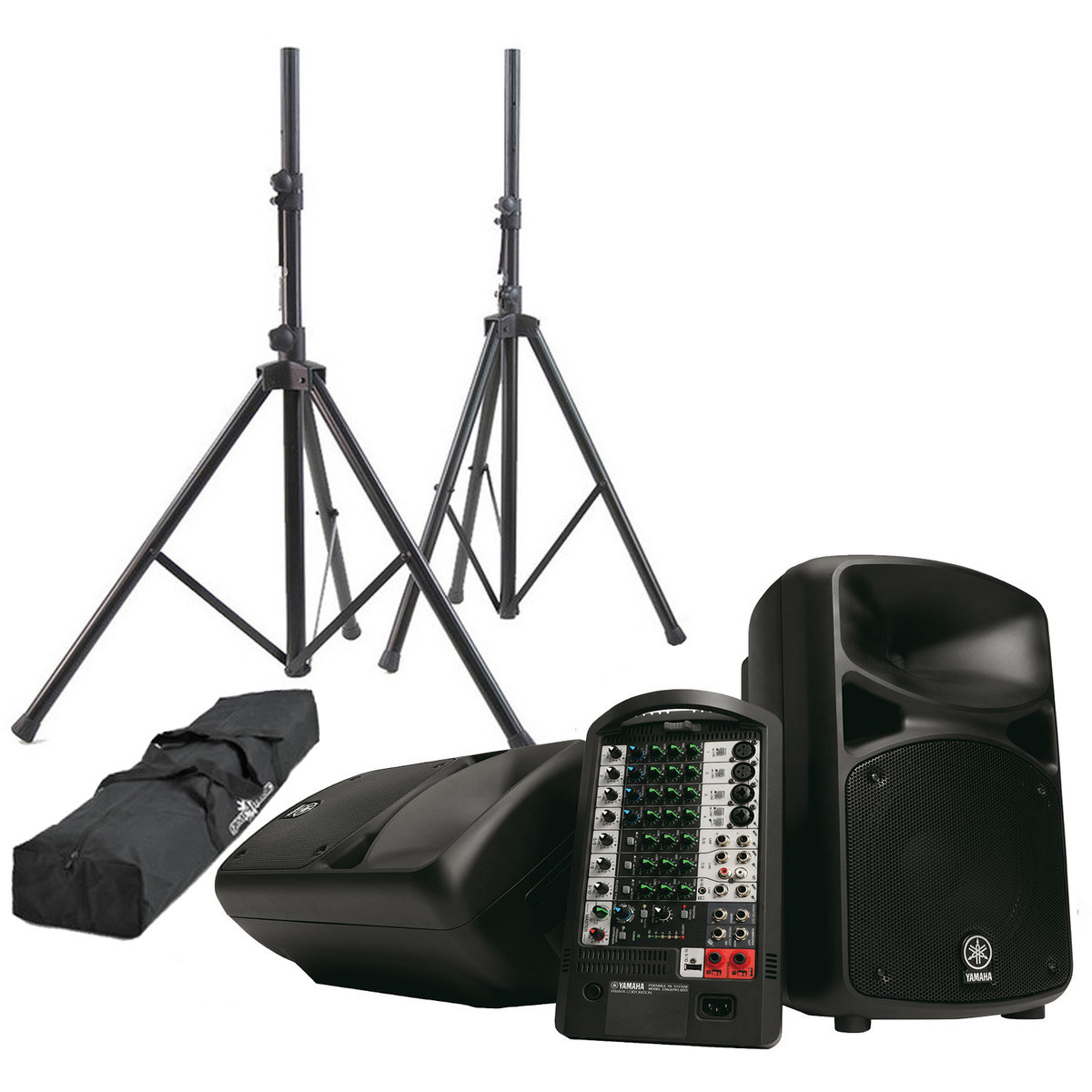 yamaha stagepas 600i portable pa with speaker stands at. Black Bedroom Furniture Sets. Home Design Ideas