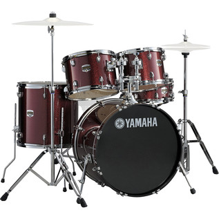 Yamaha Gigmaker 22'' Rock Drum Kit, Burgundy Glitter