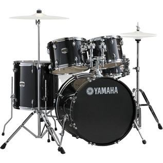 Yamaha Gigmaker 22'' Rock Drum Kit, Black Glitter